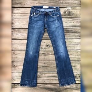 Mek Denim Jean Easter Island Embellished Distress
